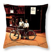 The Two Boys Throw Pillow