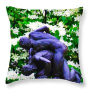 The Two Wrestlers Throw Pillow
