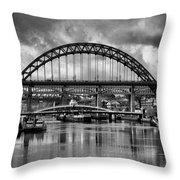 The Tyne Bridges Throw Pillow