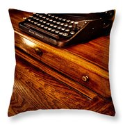 The Typewriter Throw Pillow by David Patterson