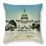 The United States Capital Building Throw Pillow