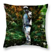The Unknown Construction Worker In London Throw Pillow