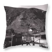 The Upper Village Of Calico Ghost Town Throw Pillow