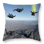 The U.s. Navy Parachute Demonstration Throw Pillow