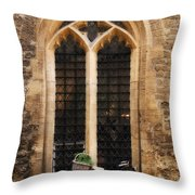 The Vaults Garden Cafe Bicycle In Oxford England Throw Pillow