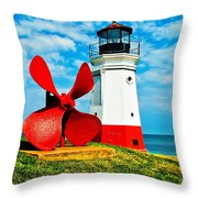 The Vermillion Light Throw Pillow