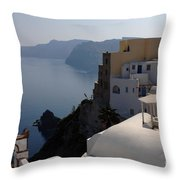 The View At Fira Throw Pillow