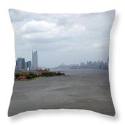 The View From The Statue Of Liberty Throw Pillow