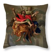The Vision Of St. Paul Throw Pillow