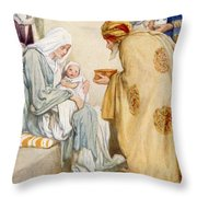 The Visit Of The Wise Men Throw Pillow