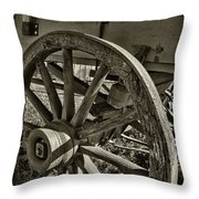 The Wagon Wheel Throw Pillow