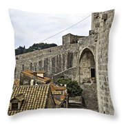 The Wall In Dubrovnik Throw Pillow