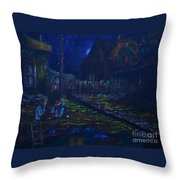 The Wall In Left Field Throw Pillow