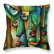 The Wall Throw Pillow by Michael Lang