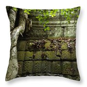 The Wall Ta Prohm 2 Throw Pillow