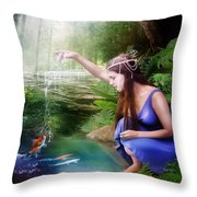 The Water Hole Throw Pillow