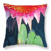 The Water Lily Unleashed Throw Pillow