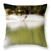 The Water Skier 1 Throw Pillow