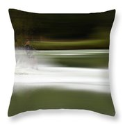 The Water Skier 2 Throw Pillow