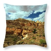The Waterpocket Fold Throw Pillow