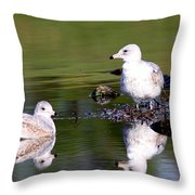 The Water's Fine Throw Pillow