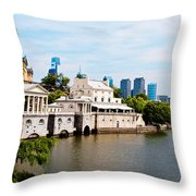The Waterworks In Spring Throw Pillow