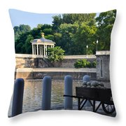 The Waterworks Wheelbarrow - Philadelphia Throw Pillow