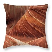 The Wave Into The Fold Throw Pillow