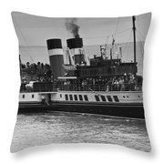 The Waverley Paddle Steamer Mono Throw Pillow
