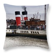 The Waverley Paddle Steamer Throw Pillow