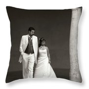 The Wedding Couple Throw Pillow