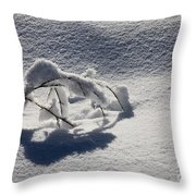 The Weight Of Winter Throw Pillow