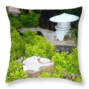 The Welcoming Garden Throw Pillow