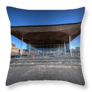 The Welsh Assembly Building 2 Throw Pillow