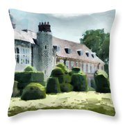 The West Wing Of Historic Hall Place  Throw Pillow