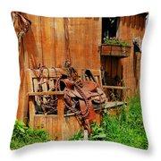 The Western Saddle Throw Pillow