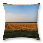 The Wheat Is In Throw Pillow