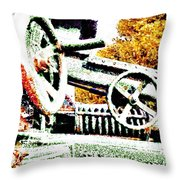 The Wheels Of War Keep On Turning Throw Pillow