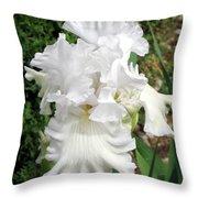 The White Iris Throw Pillow