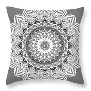 The White Mandala No. 2 Throw Pillow