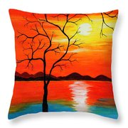 The White Sun Throw Pillow