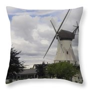 The White Windmill Throw Pillow