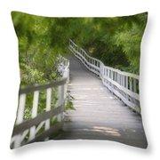 The Whitewater Walk Boardwalk Trail Throw Pillow