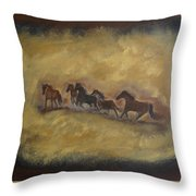 The Wild And Free Ones Throw Pillow
