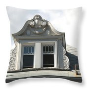 The Window Quebec City Throw Pillow