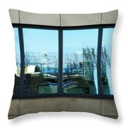 The Window To An Ever Changing World  Throw Pillow