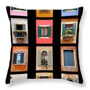 The Windows Of Venice Throw Pillow