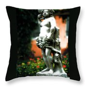 The Wine Nymph Throw Pillow