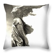 The Winged Victory - Paris Louvre Throw Pillow