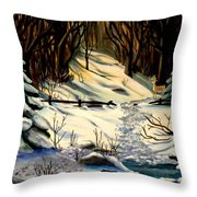The Winter Trail Throw Pillow